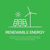 istock Renewable Energy Vector Line Icon - Simple Thin Line Icon, Premium Quality Design Element 1144301763