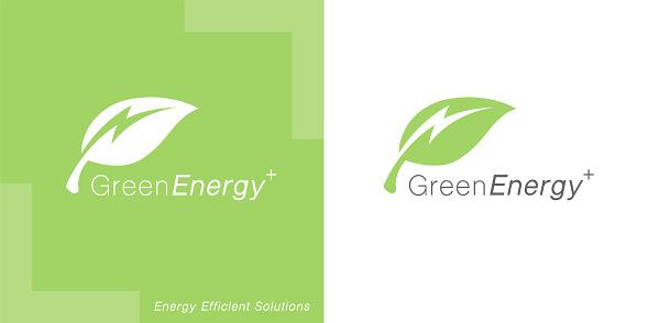 Renewable green energy icon