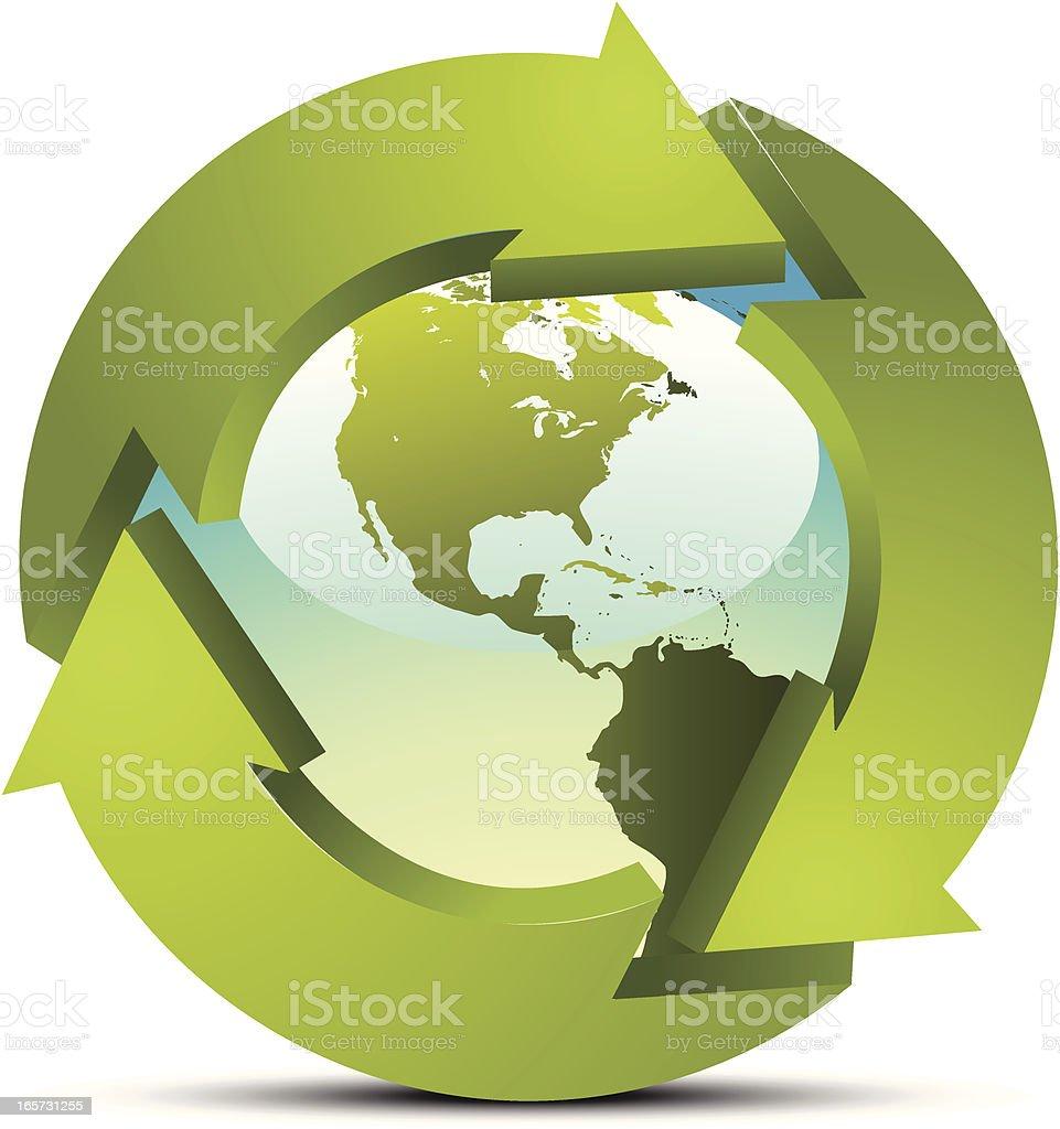 Renewed Earth vector art illustration