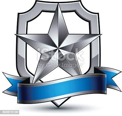 ᐈ Imagen de Vector de renombre estrella de plata con la