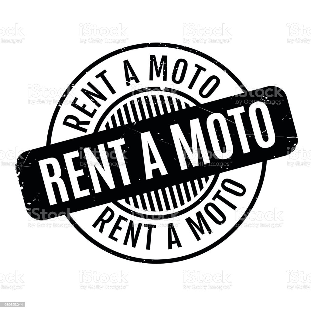 Rent A Moto rubber stamp vector art illustration