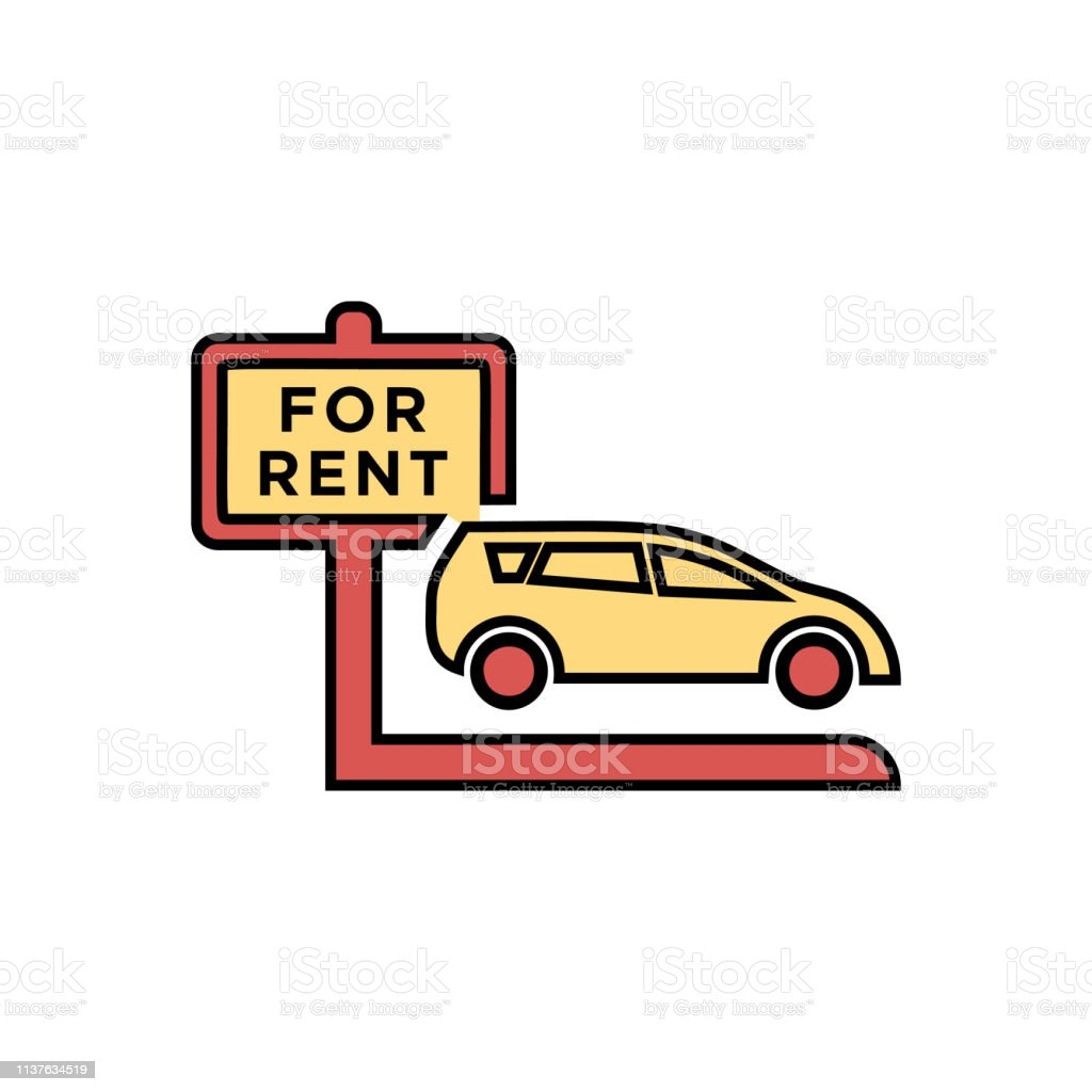 Rent Car Vector Icon Car Rental Symbol Stock Illustration