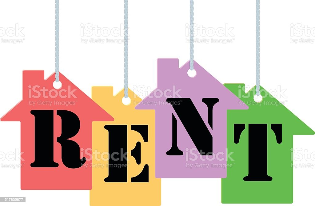 Rent tags vector art illustration