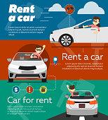 Rental car banners.