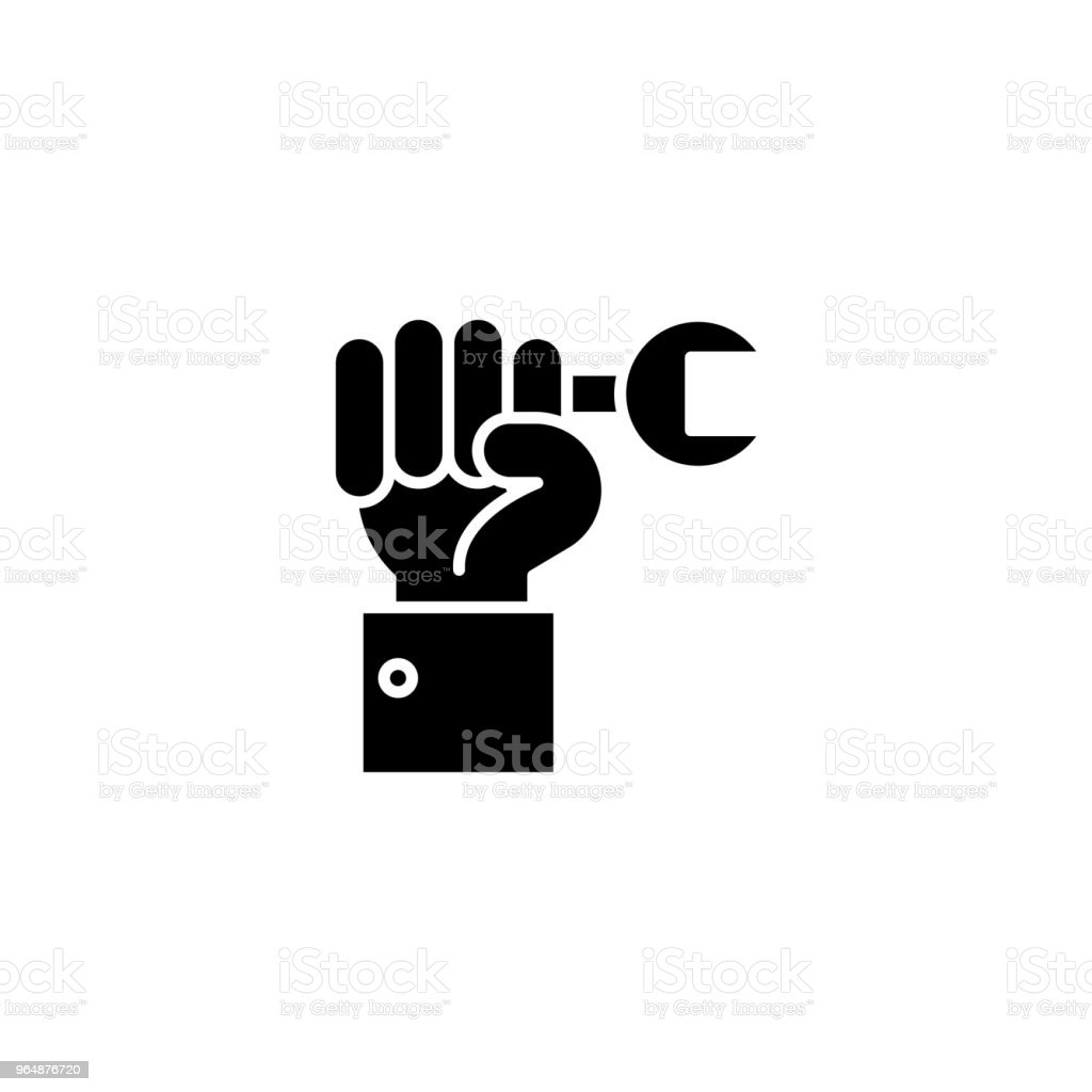 Repair black icon concept. Repair flat  vector symbol, sign, illustration. royalty-free repair black icon concept repair flat vector symbol sign illustration stock vector art & more images of backgrounds