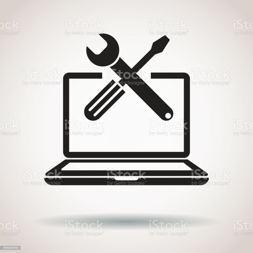 Repair computer icon royalty-free repair computer icon stock vector art & more images of business