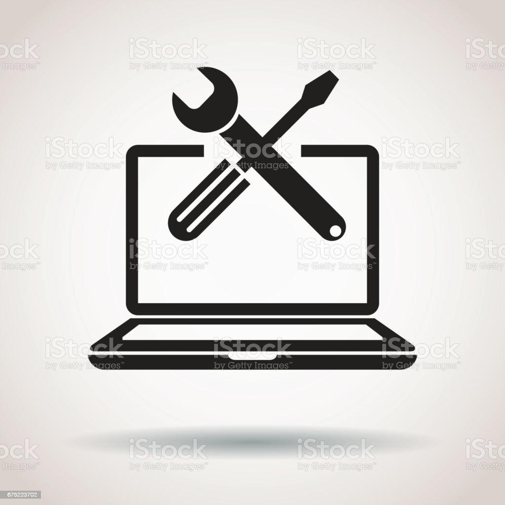 Icono de reparación PC - ilustración de arte vectorial