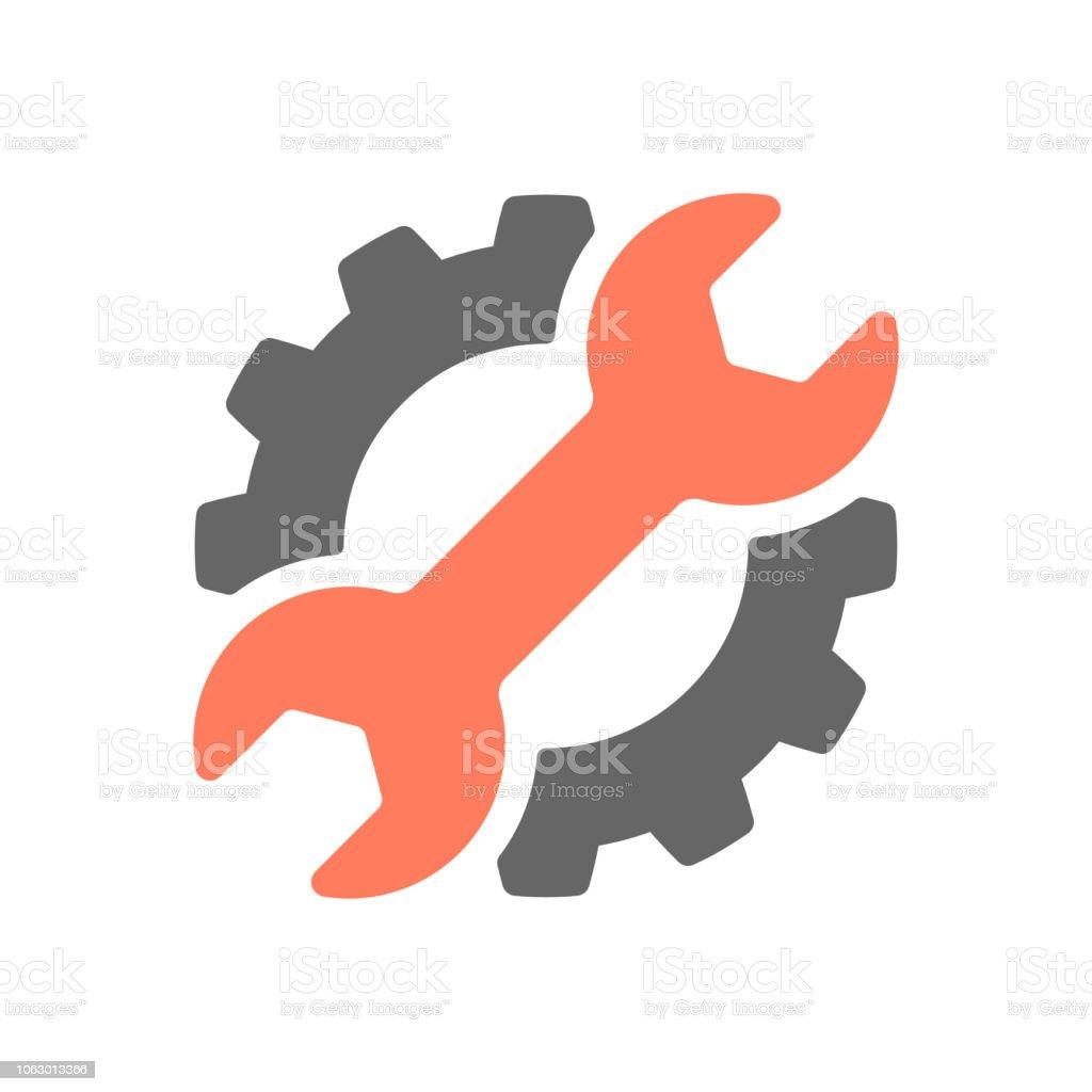 Repair control group, service industry symbol vector illustration vector art illustration