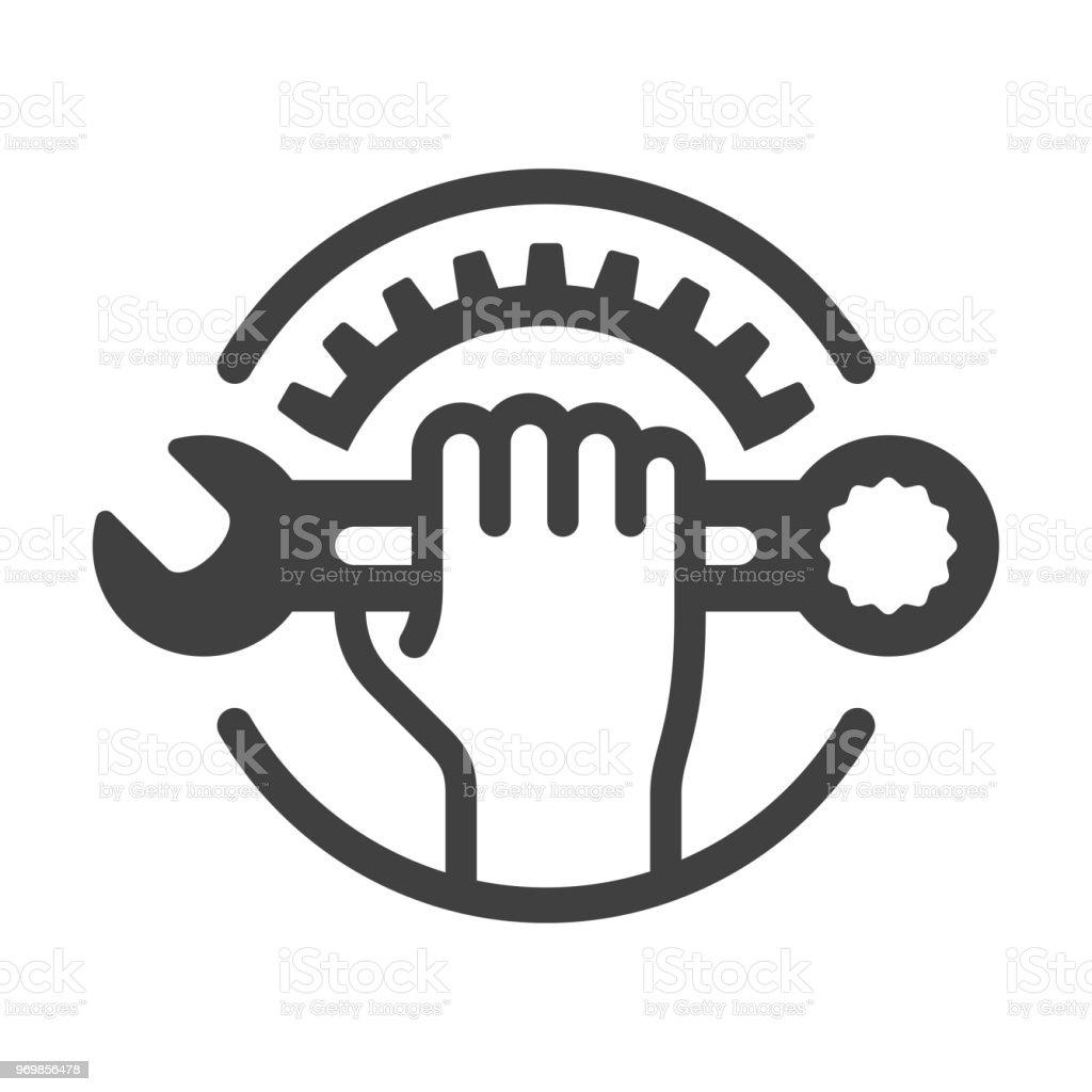 Icono de reparación - ilustración de arte vectorial