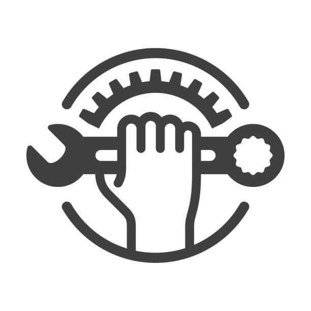Repair icon Vector icon. EPS 10, HD JPEG 4000 x 4000 px repairing stock illustrations