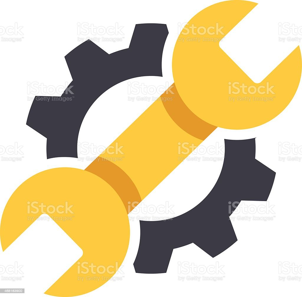 Repair icon. Vector Illustration vector art illustration