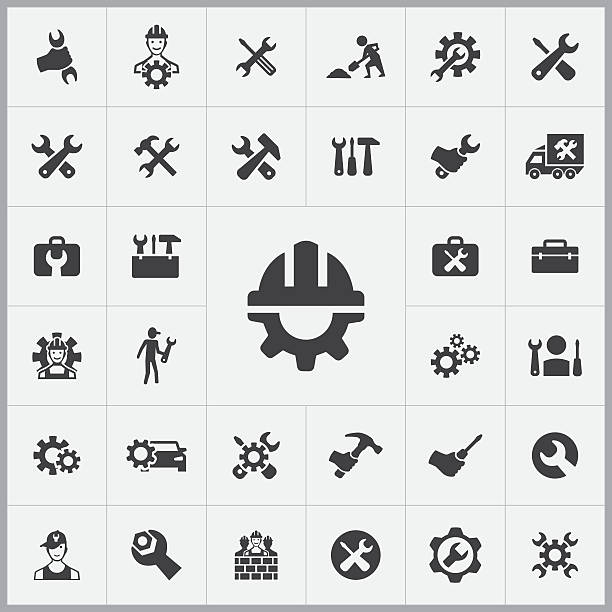 repair icons universal set - plumber stock illustrations, clip art, cartoons, & icons