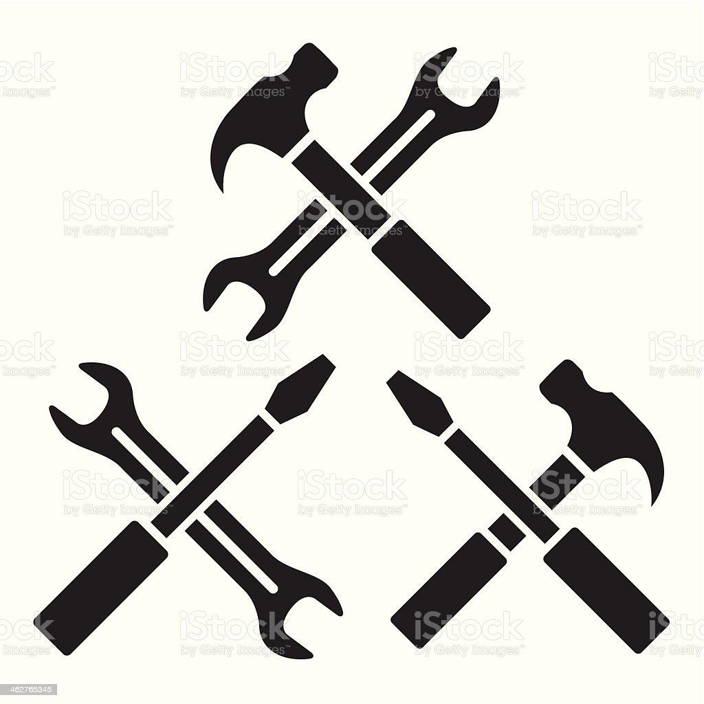 Repair icons vector art illustration