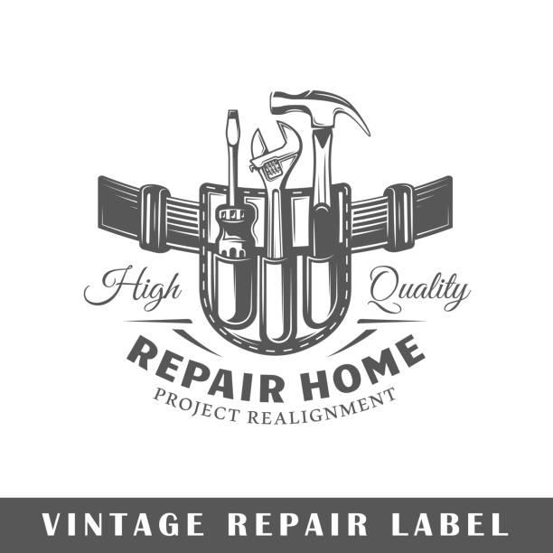 Reparatur-label – Vektorgrafik