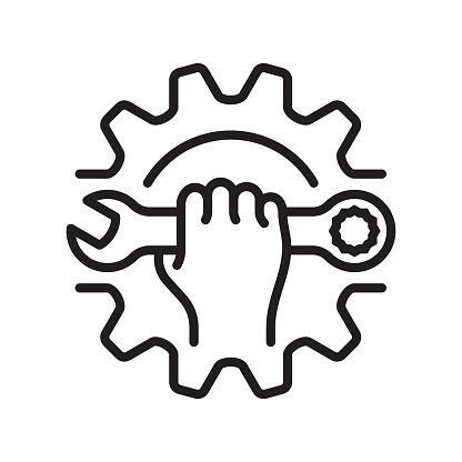 Repair line icon