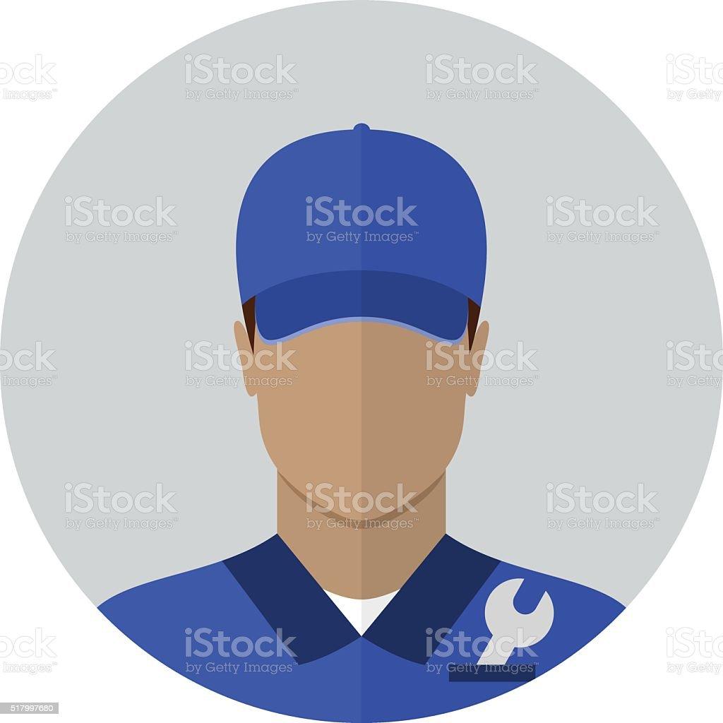 Repair man avatar vector art illustration