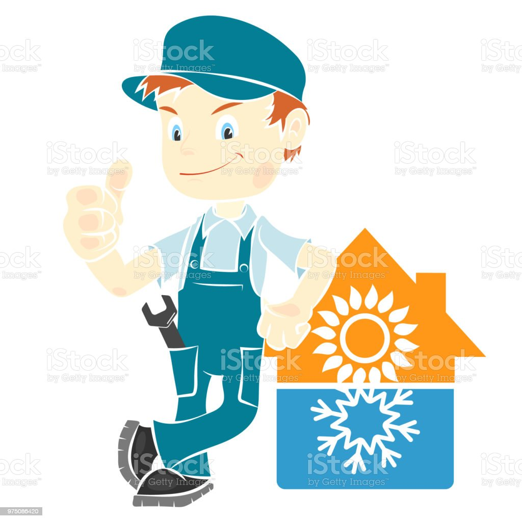 Repair man for installing air conditioning