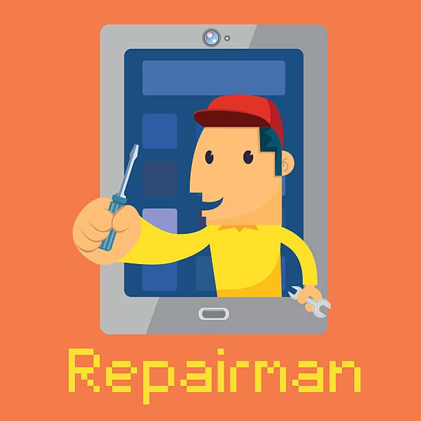 repair man repair man pipefitter illustrations stock illustrations