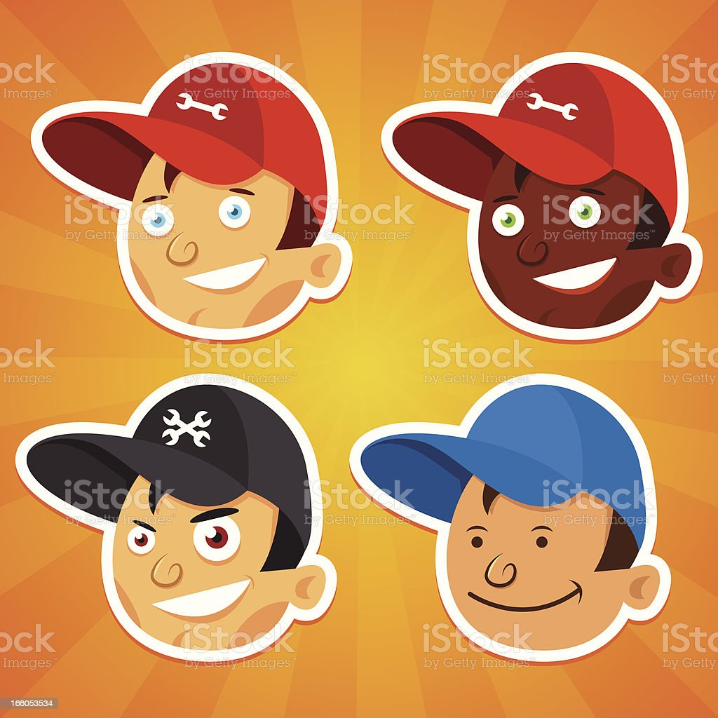 Repair men faces royalty-free repair men faces stock vector art & more images of a helping hand