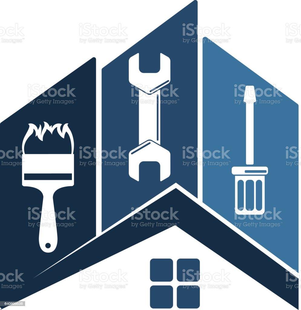 Símbolo de reparo em casa - ilustração de arte em vetor