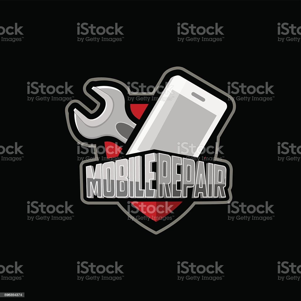 repair of mobile phones and tablets logo royalty-free repair of mobile phones and tablets logo stock vector art & more images of backgrounds