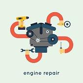 Repair of motor car.