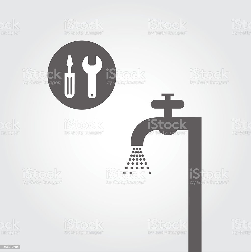 repair plumbing symbol vector art illustration