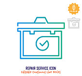 istock Repair Service Continuous Line Editable Stroke Line 1251102773