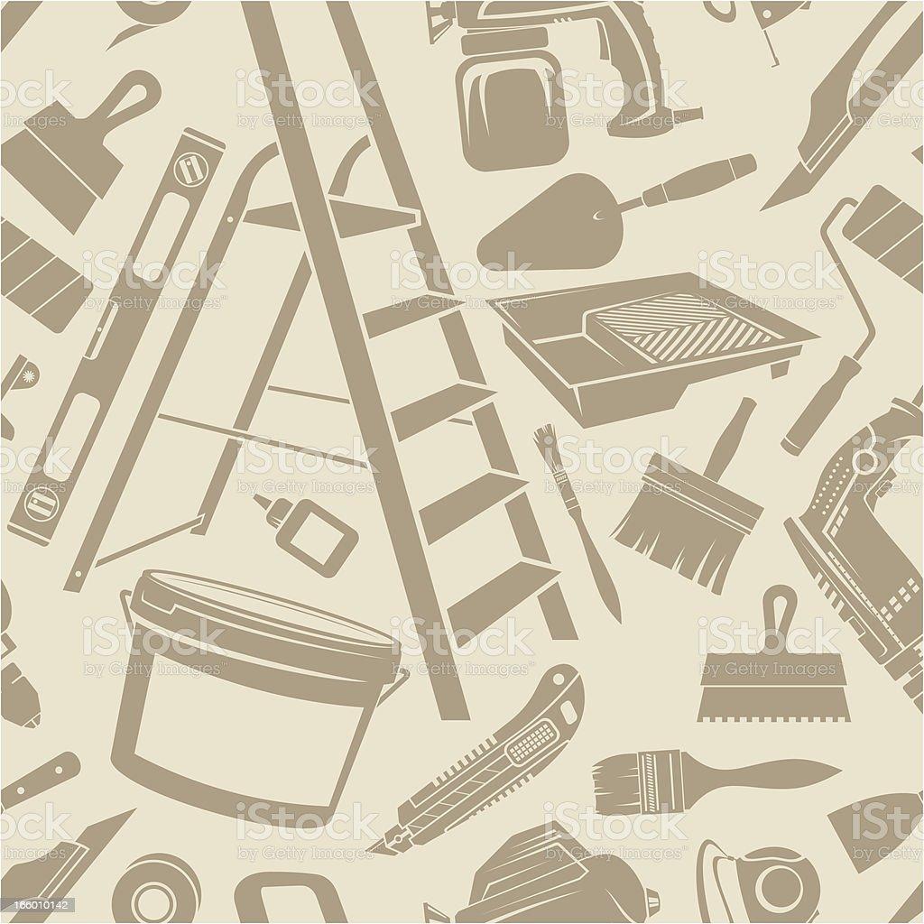 Repair set seamless background royalty-free stock vector art