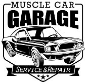 Car repair shop banner in vector