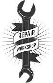 repair workshop label