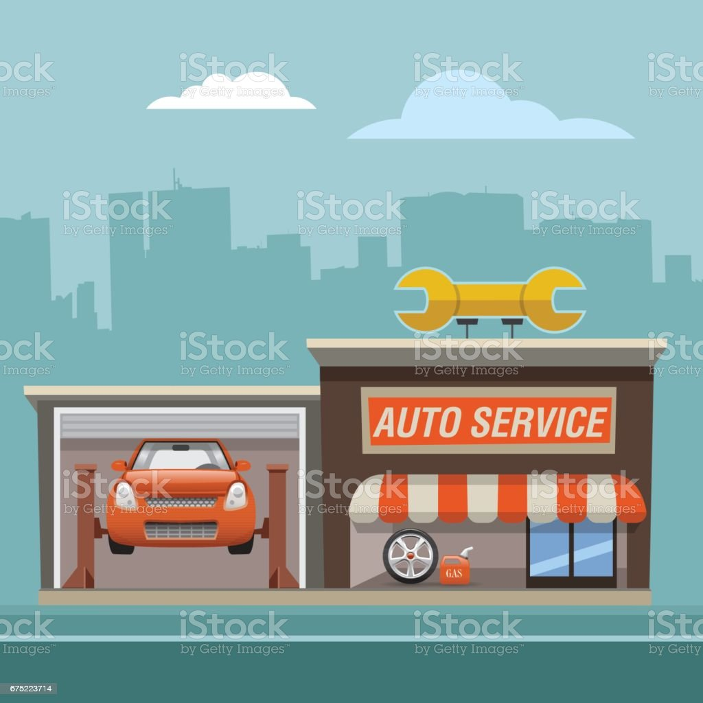 repair_service vector art illustration