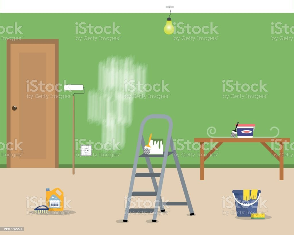 Repairing at home royalty-free repairing at home stock vector art & more images of apartment