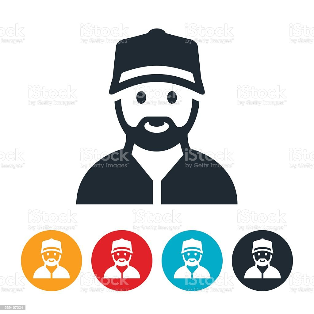 Repairman Icon vector art illustration