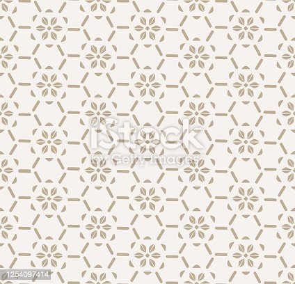 istock Repeat White Vector Artdeco Decoration Pattern. Seamless Minimal Graphic Gatsby Repeat Texture. Continuous Black Wedding Pattern 1254097414