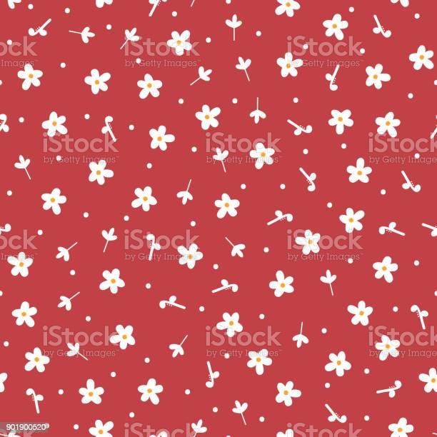 Repeated cute daisies and round dots floral seamless pattern drawn by vector id901900520?b=1&k=6&m=901900520&s=612x612&h=oyin4l pf1xpkbtqzj74crefwdmdbpexp8lbqxdn4mi=