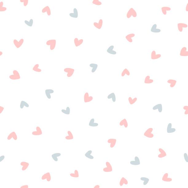 重複的心臟繪製的手。可愛的無縫模式。無盡的浪漫版畫。 - 女性化 幅插畫檔、美工圖案、卡通及圖標