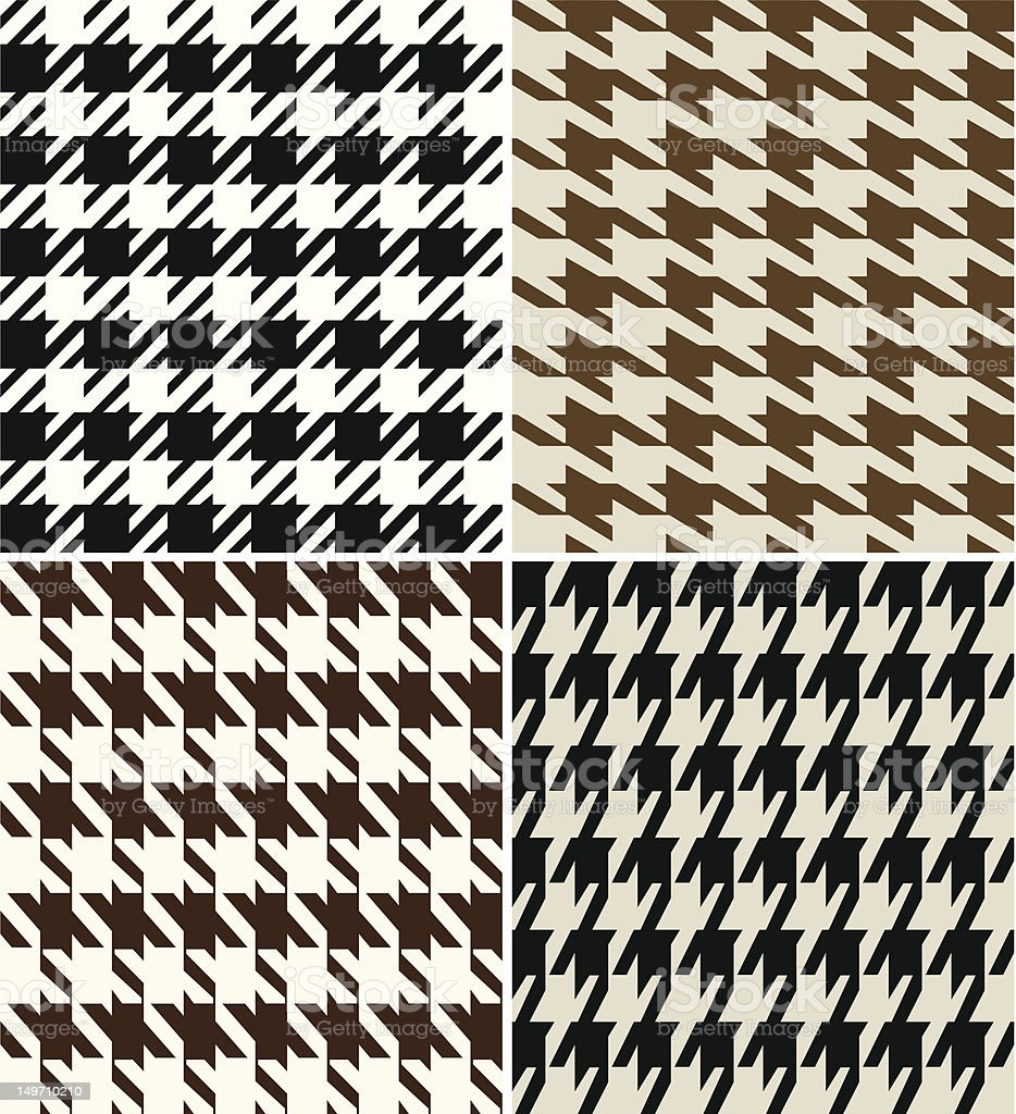 Repeated Houndstooth Fabric royalty-free stock vector art