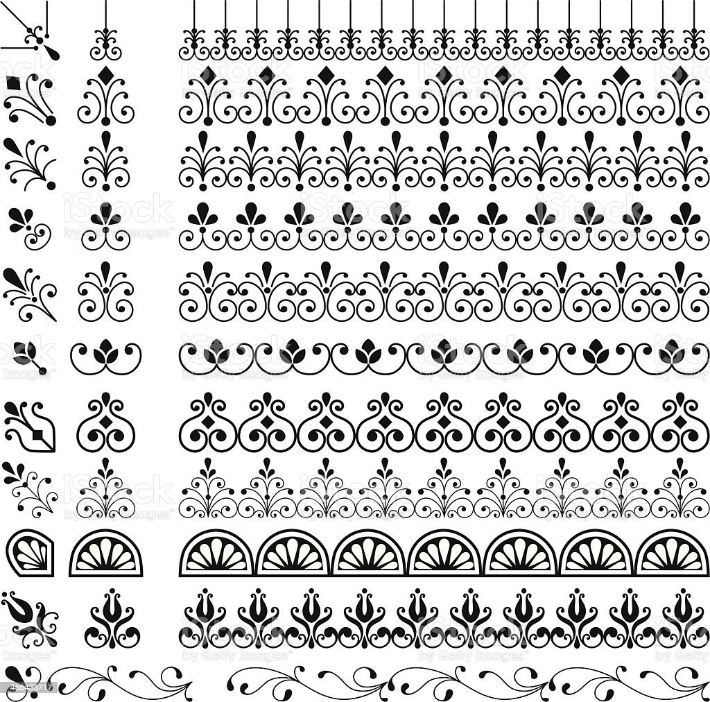 Wiederhole Grenzen-Set – Vektorgrafik