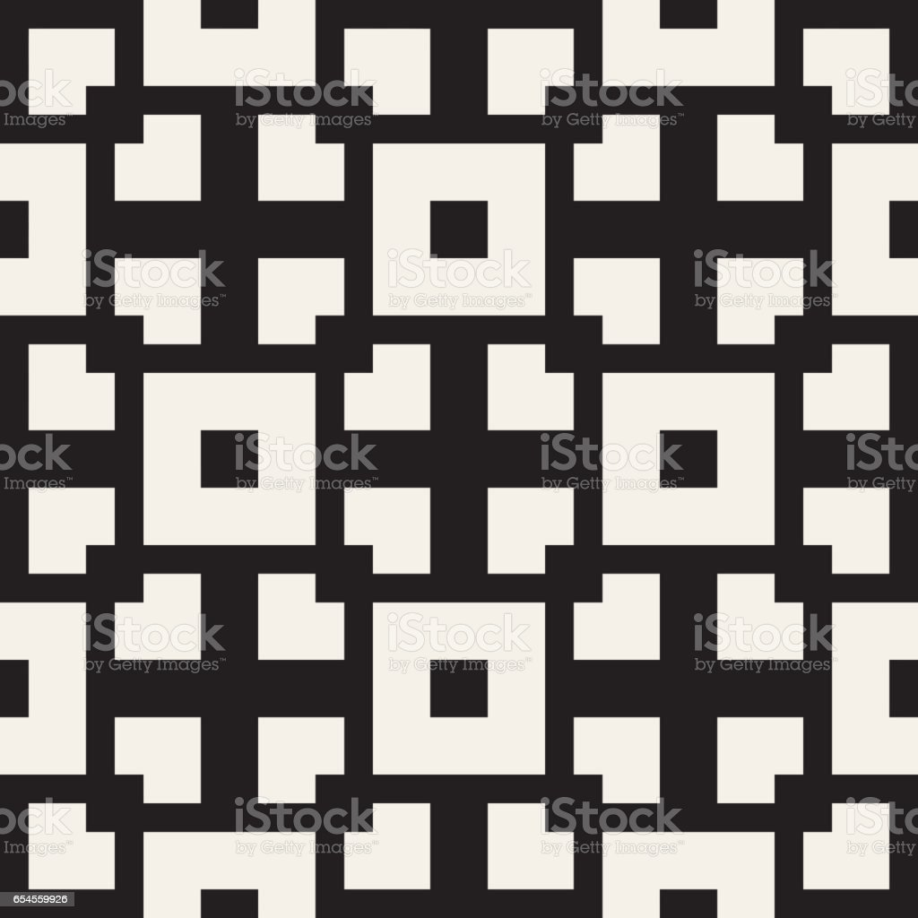 Repeating Geometric Stripes Tiling Vector Seamless Monochrome ...