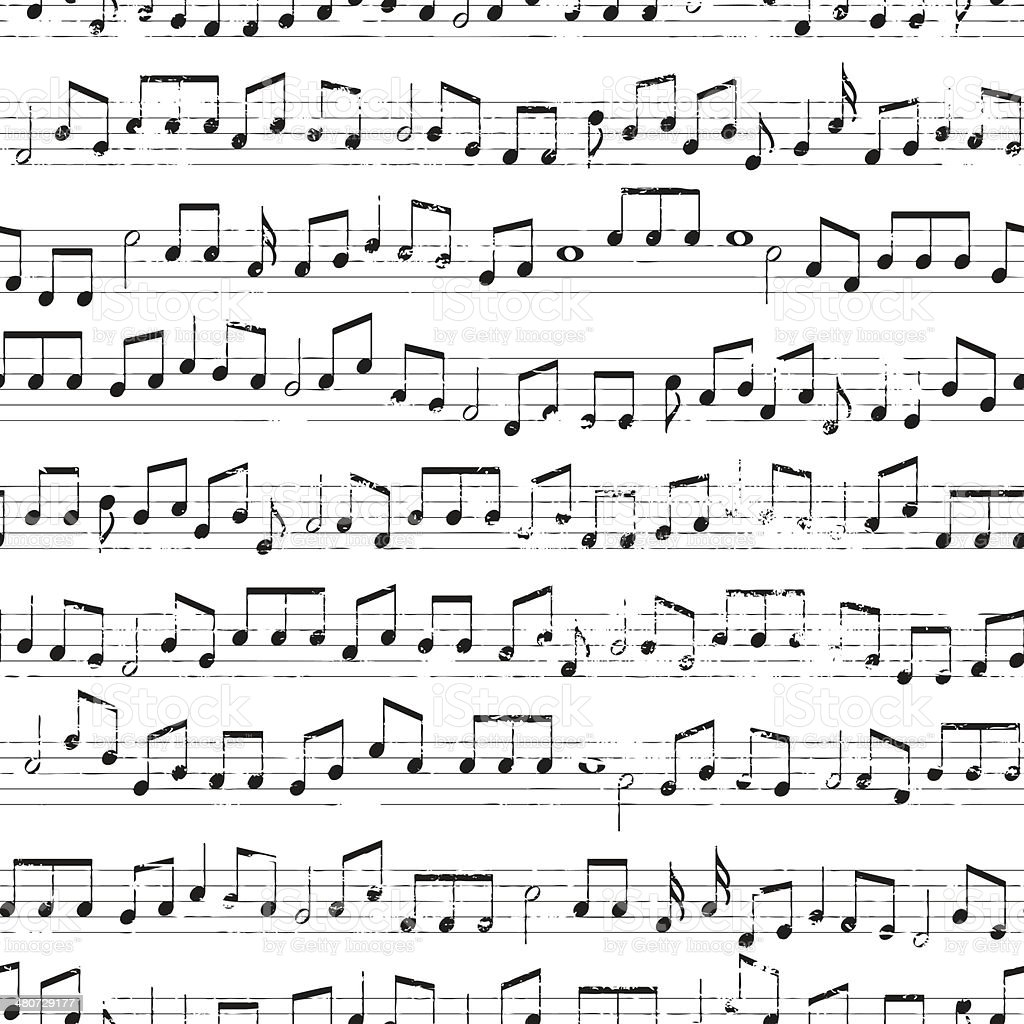 Repeating Musical Notes vector art illustration