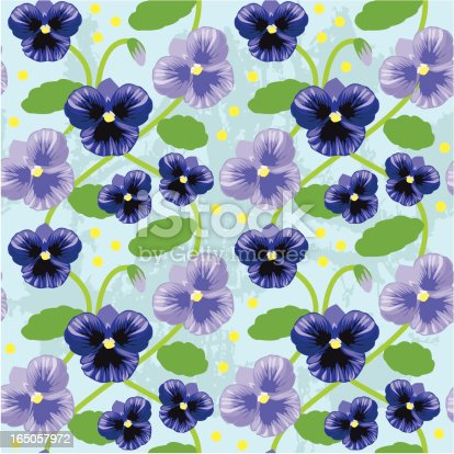 istock Repeating pansy tile 165057972