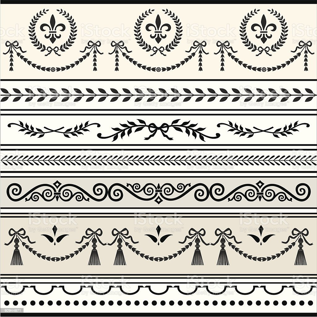 Repeating Scroll Borders royalty-free stock vector art