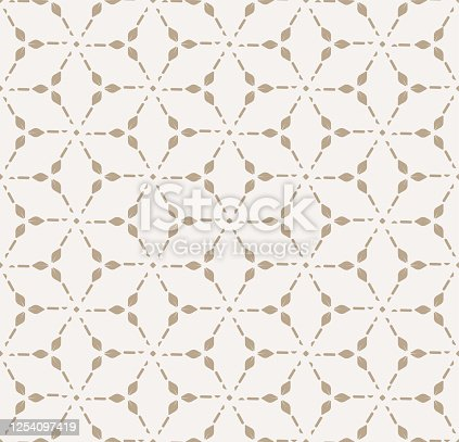 istock Repetitive Classic Graphic Artdeco Background Pattern. Continuous Fashion Vector Gatsby Repeat Texture. Seamless Fabric Thirties 1254097419