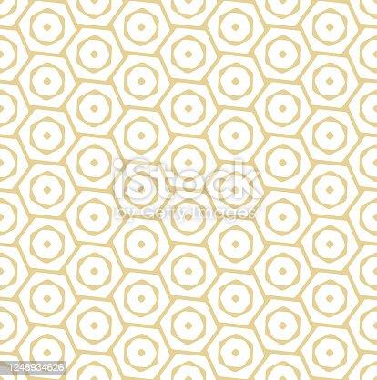 istock Repetitive Modern Graphic Rhombus Lattice Texture. Seamless East Vector Vip Tile Pattern. Continuous Classic Artdeco Decor 1248934626