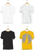 Replace Design/Pattern with your Design, Change Colors Mock-up T-shirt Template