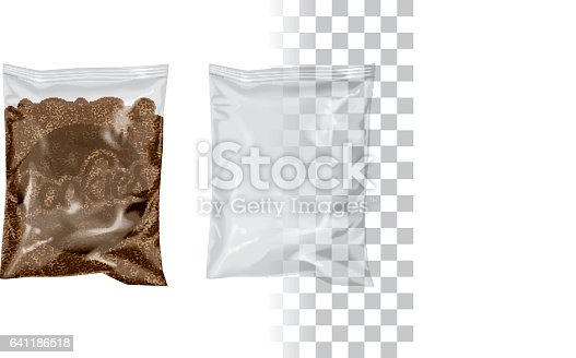 """istock Replace Product for your Product, Change """"Cookies"""" by your Logo/Design Mockup Transparent Plastic Package Foil Bag Pouch Snack Cookie Chips 641186518"""
