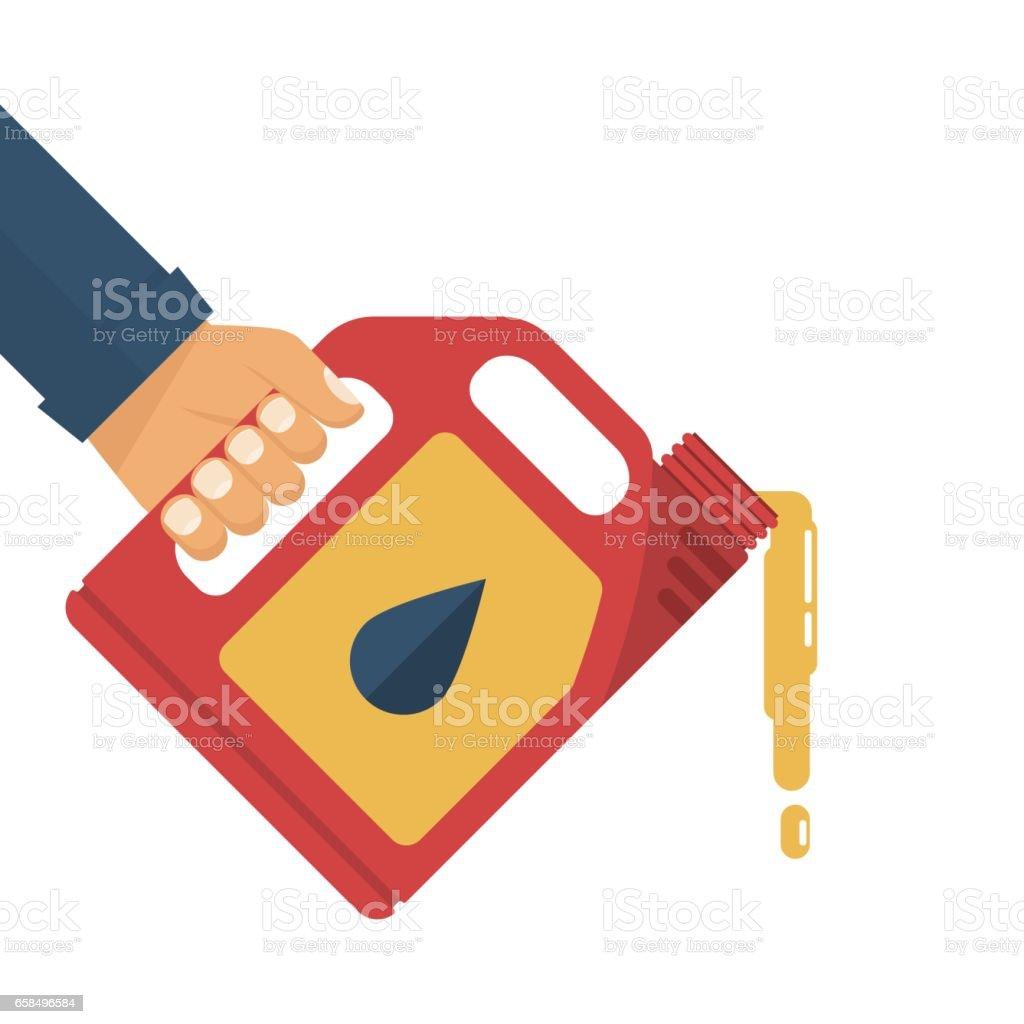 Aceite de motor de recambio. - ilustración de arte vectorial
