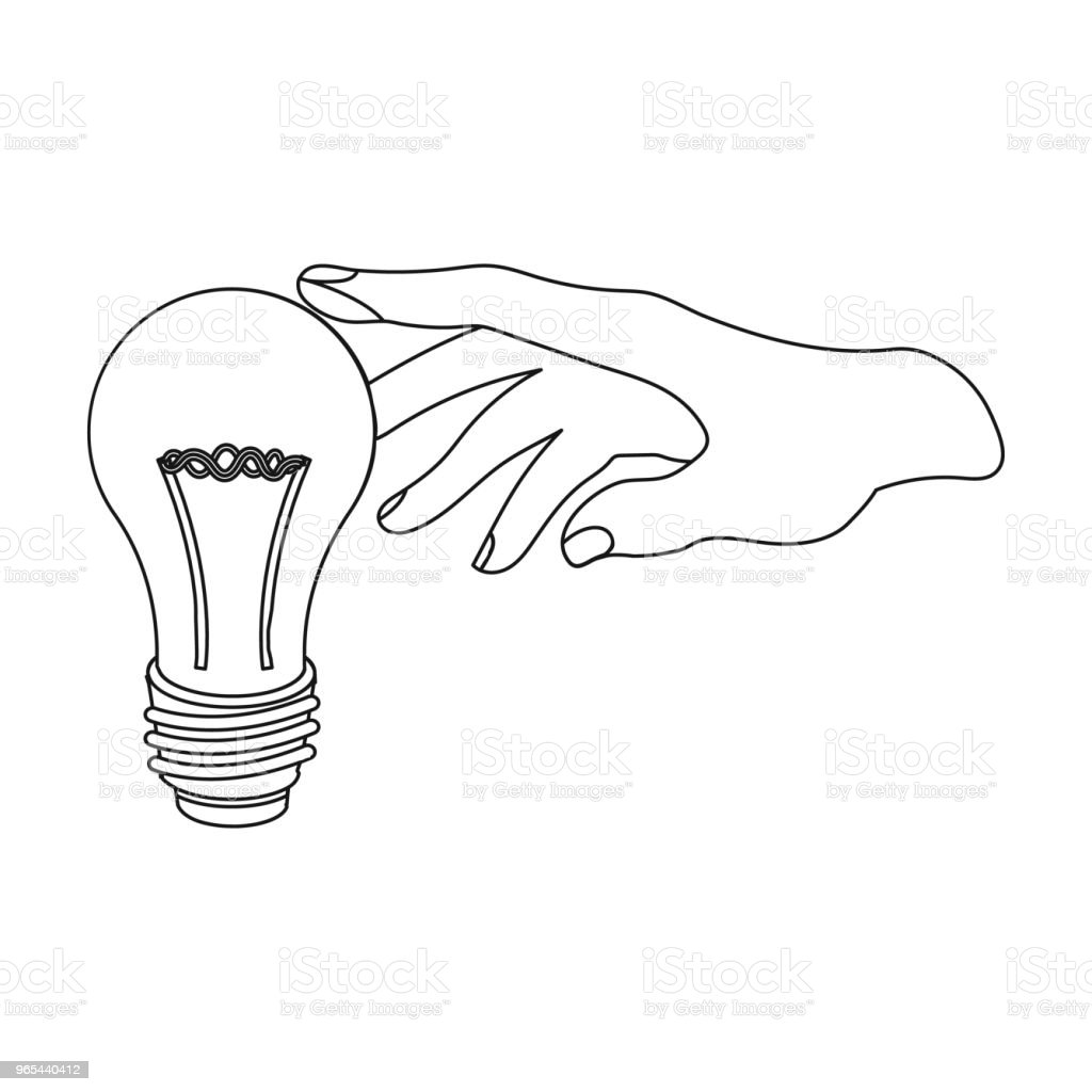 Replacement of an electric bulb. Incandescent lamp single icon in outline style vector symbol stock illustration web. royalty-free replacement of an electric bulb incandescent lamp single icon in outline style vector symbol stock illustration web stock vector art & more images of appliance
