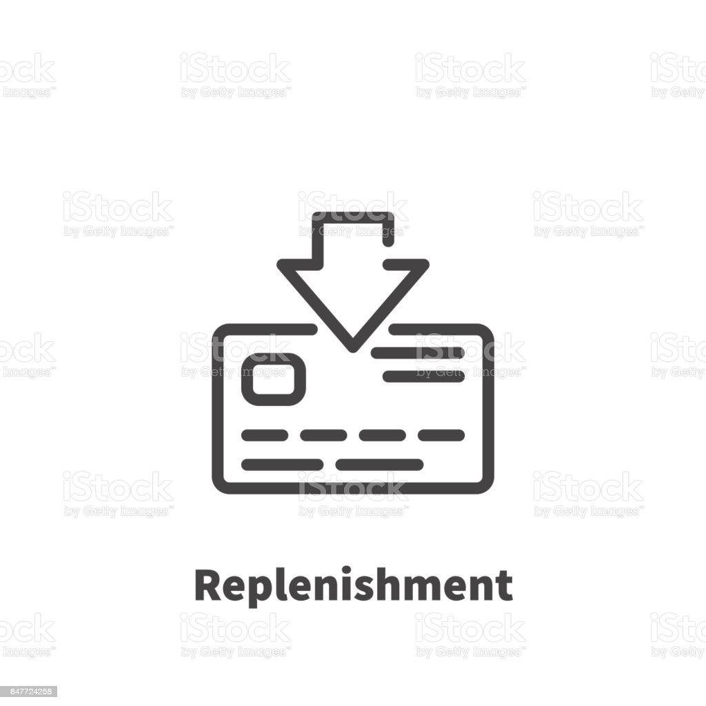 Replenishment of bank card account icon vector symbol in line replenishment of bank card account icon vector symbol in line style isolated on white background biocorpaavc Gallery